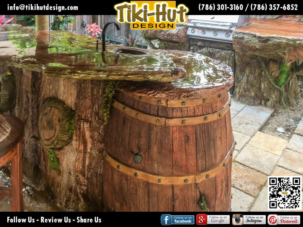 Cement-Counter-Top-and-Wine-Barrel-by-Tiki-Huts-Miami