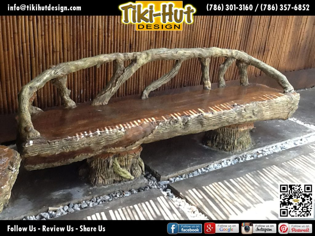 Custom-Cement-Bench-like-Wood-by-Tiki-Hut-Design-of-Miami