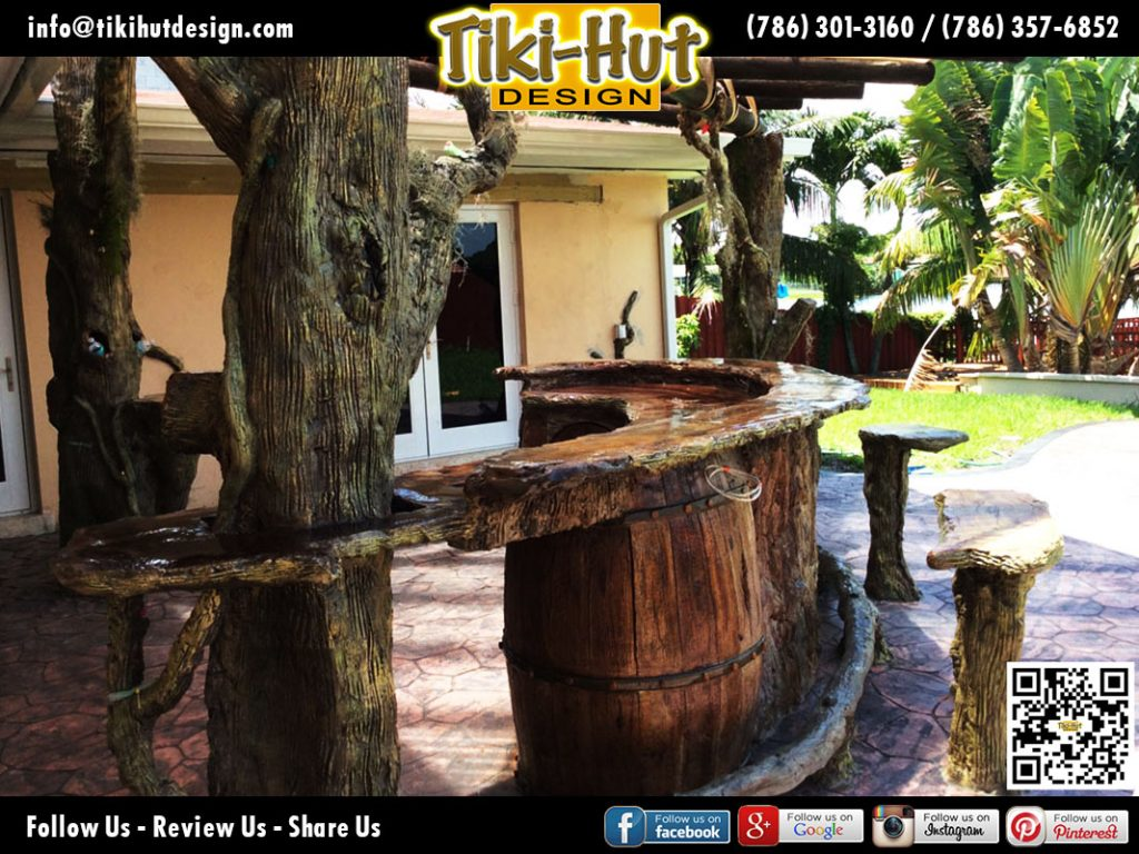 Custom-Cement-Counter-To-and-Wine-Barrel-by-Tiki-Huts-Miami
