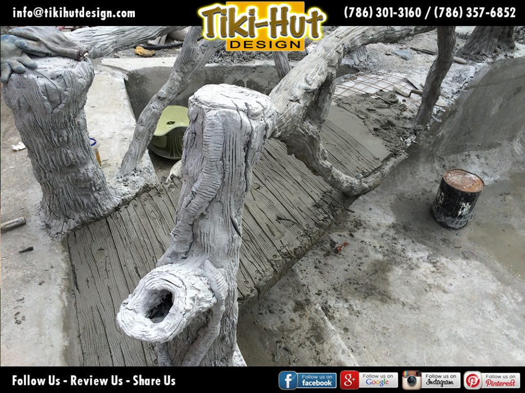 Custom-Cement-Pond-underconstruction-Tiki-Huts-Miami