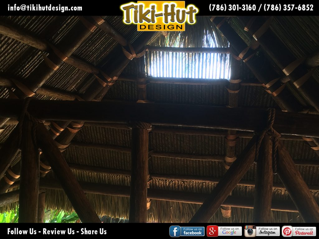 Custom-Cement-Tiki-Hut-Roof-side-detaill-view-Tiki-Huts-Miami