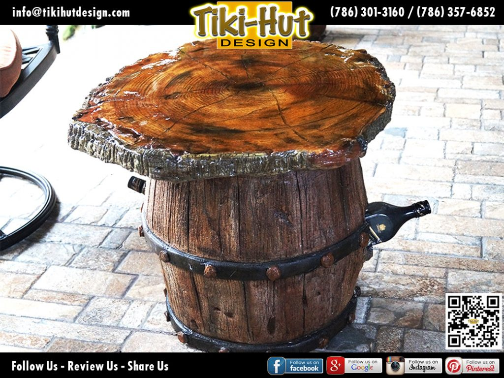 Custom-Cement-Wine-Barrel-Tiki-Hut-Design-Miami