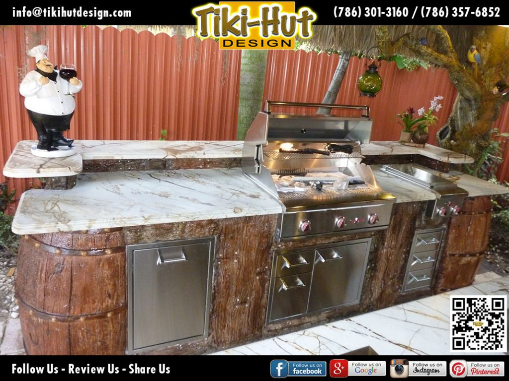 Custom-Marble-Kitchen-Top-and-Sculpted-Corner-Wine-Barrel-by-Tiki-Hut-Design-of-Miami
