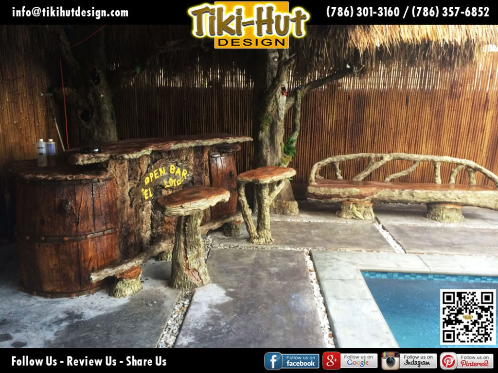Custom-Tiki-Bar-and-Stools-designed-and-sculpted-form-cementby-Tiki-Huts-Design-of-Miami