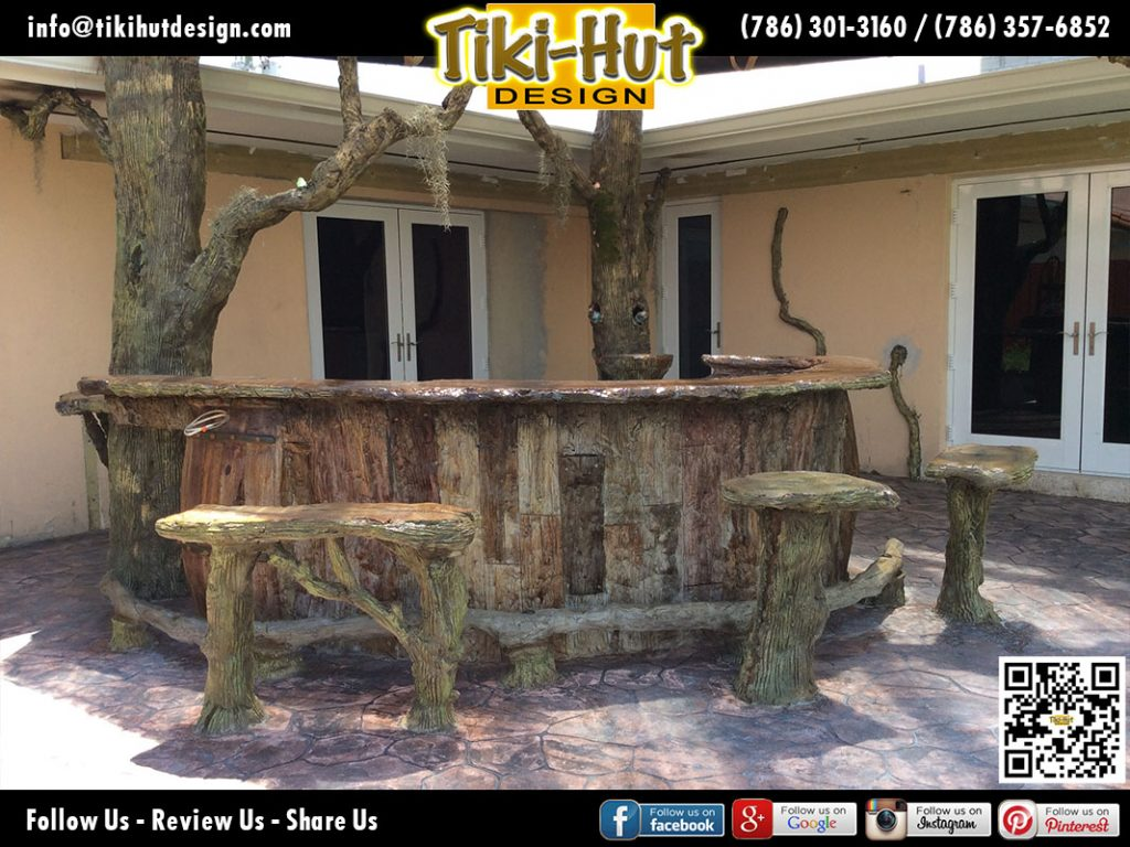 Custom-Tiki-Bar-sculpted-and-bar-stools-by-Tiki-Hut-Design-of-Miami