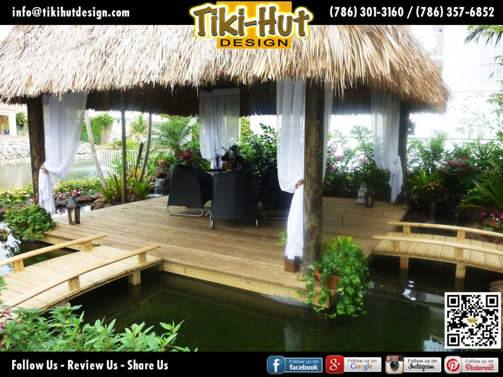 Custom-Tiki-Hut-Wooden-Deck-and-bridge-by-Tiki-Hut-Design-Miami
