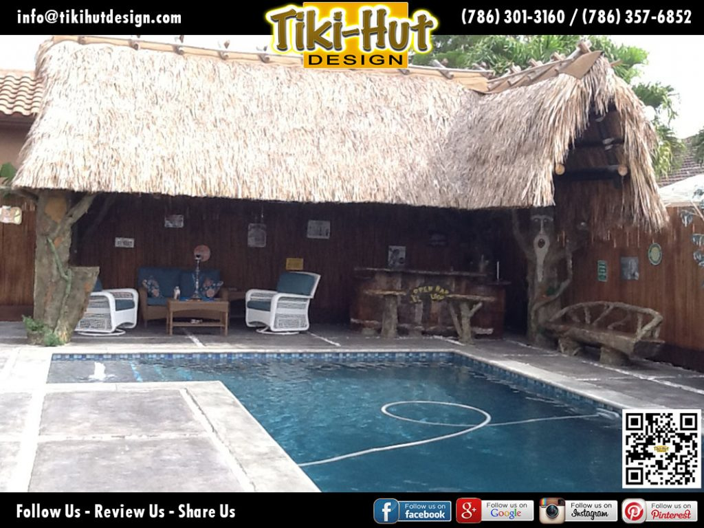Custom-Tiki-Hut-with-Extention-and-Tiki-Bar-Side-pool-by-Tiki-Hut-Design-of-Miami