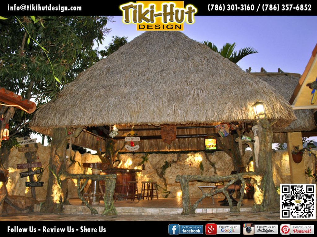 Custom-Tiki-Huts-and-Bar-Wine-Barrel-Night-View-by-Tiki-Huts-Miami