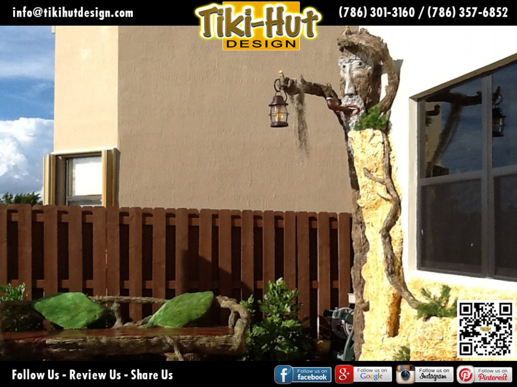 Custom-cement-structure-holding-lamp-by-Tiki-Hut-Design-of-Miami