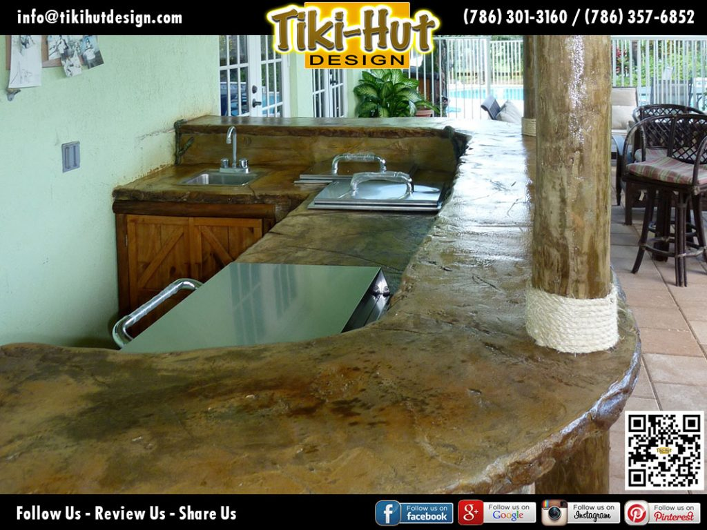Outdoor-Custom-Kitchen-with-polished-cement-bar-top-by-Tiki-Hut-Design-of-Miami