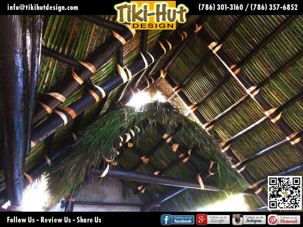 Tiki-Hut-Roof-with-cherry-stain-to-interior-poles-by-Tiki-Huts-Design-Miami
