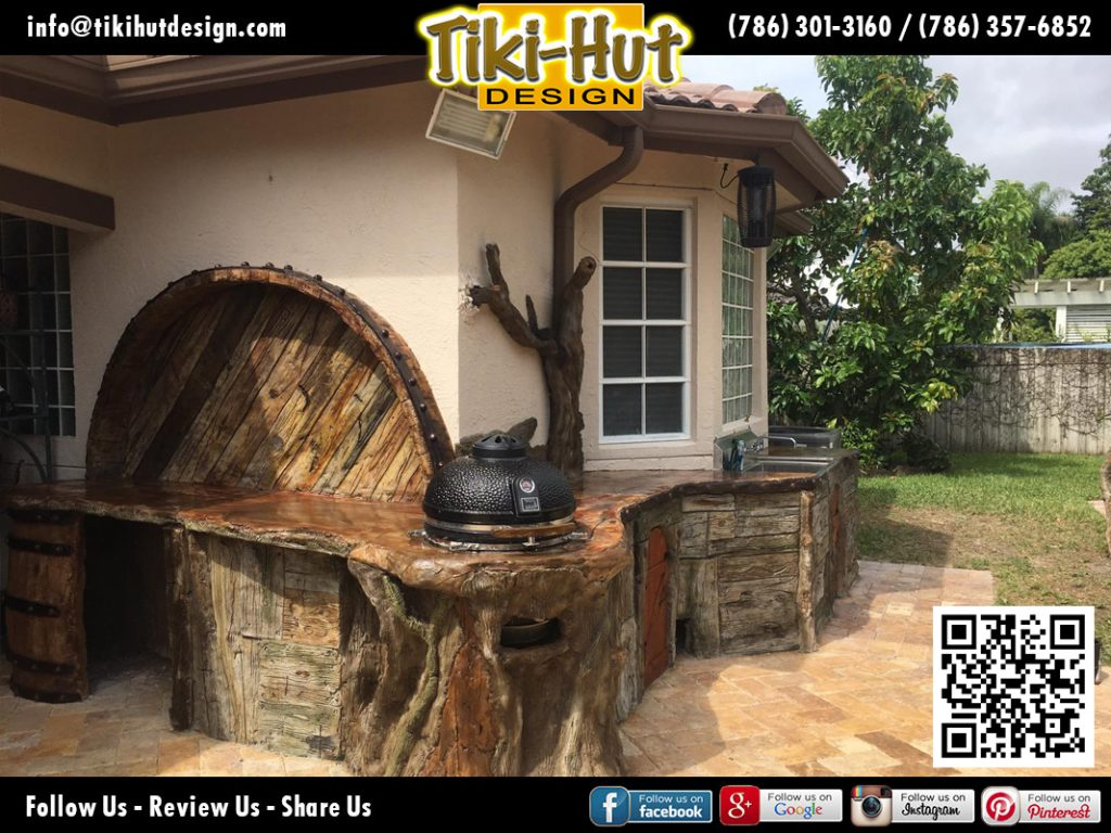custom-outside-kitchen-wood-and-barrel-imitation-counter-tiki-hut-tikihut-desing-and-tiki-bar-miami