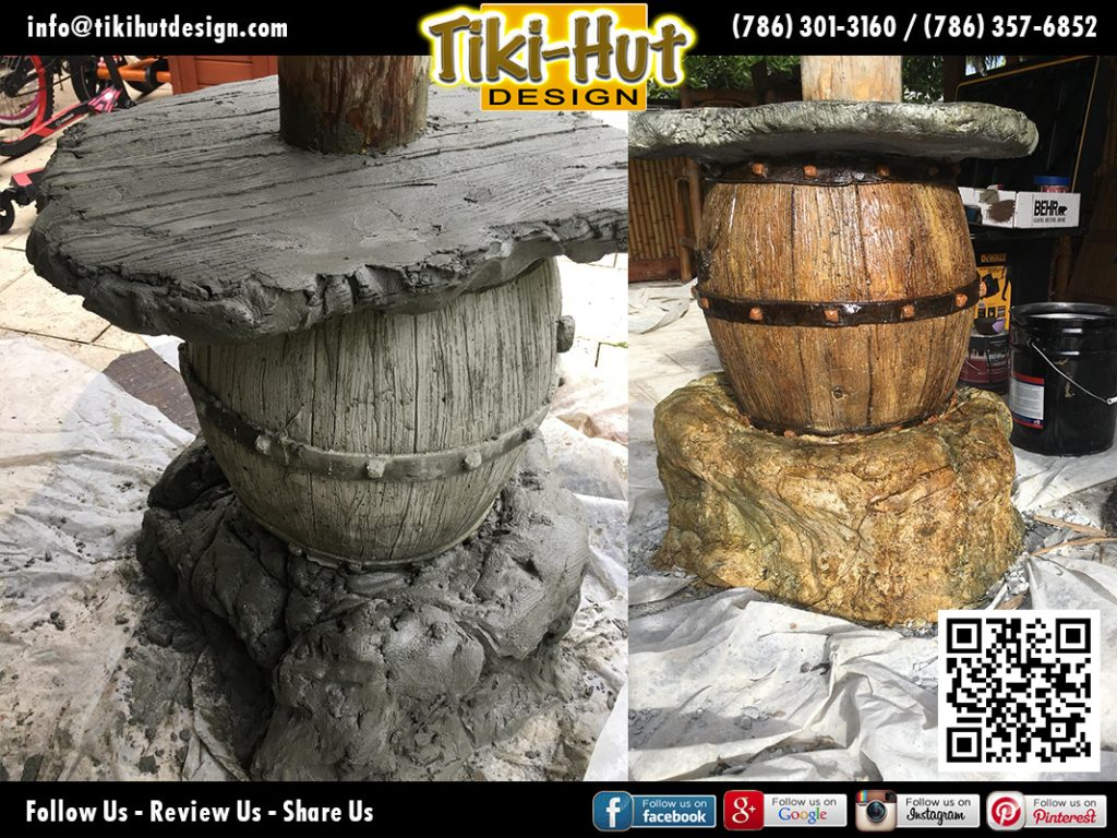 tiki-hut-design-cement-barrel-before-and-after