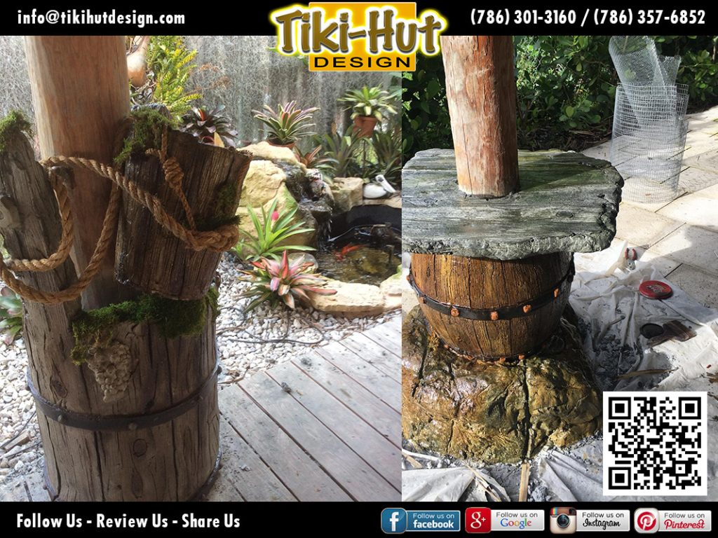 tiki-hut-design-cement-barrels
