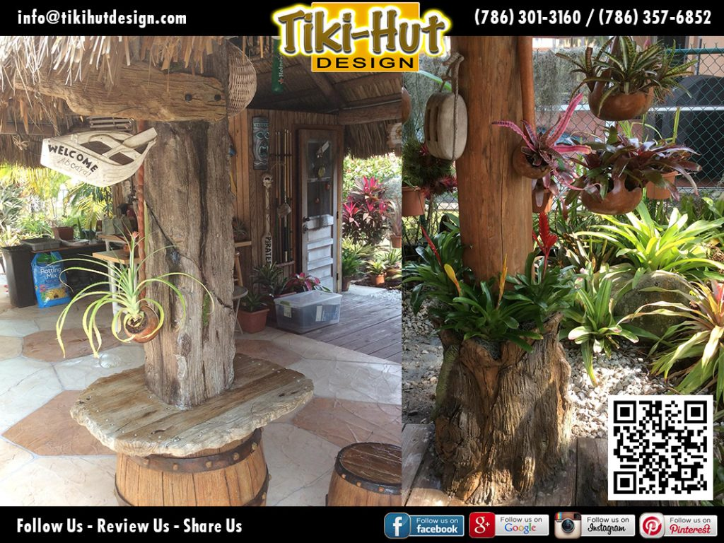 tiki-hut-design-plants-on-pole